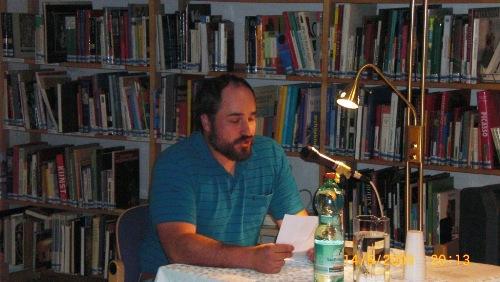 Peter bei der Natur-pur Lesung