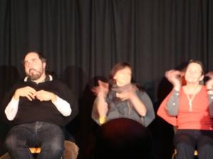 Diesmal waren die Graukos sogar im Bühneneinsatz
