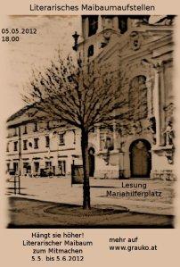 """Graukos Maibaum vor dem """"Aufstellen"""""""