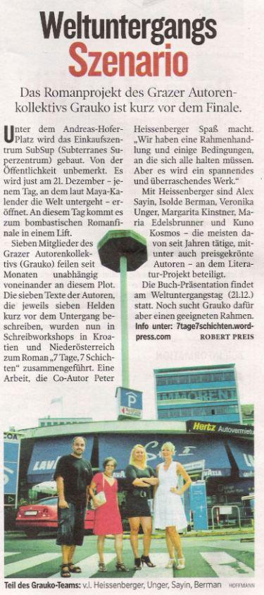 Kleine Zeitung vom 26.8.2012
